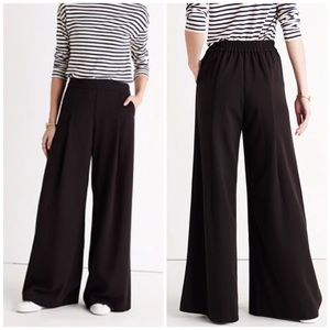 Madewell Caldwell Pull On Wide Leg Trouser Pant